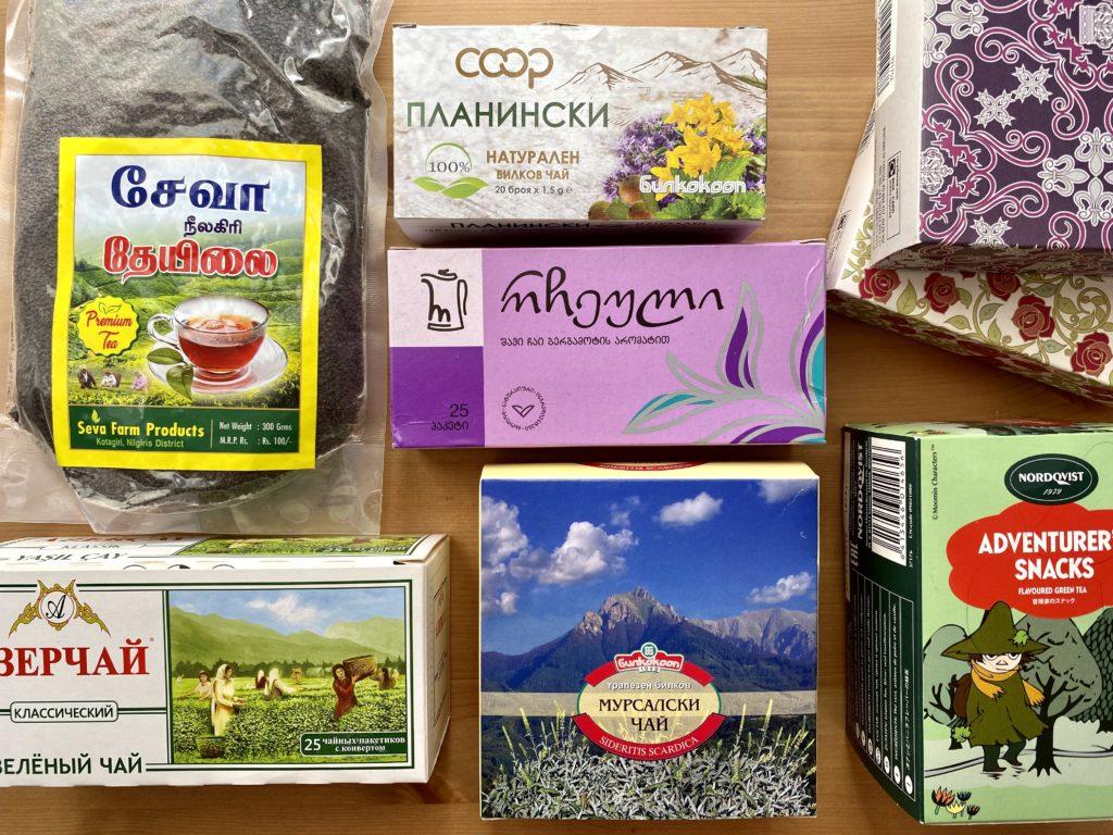 Alcuni dei tè che ho acquistato nei mie viaggi