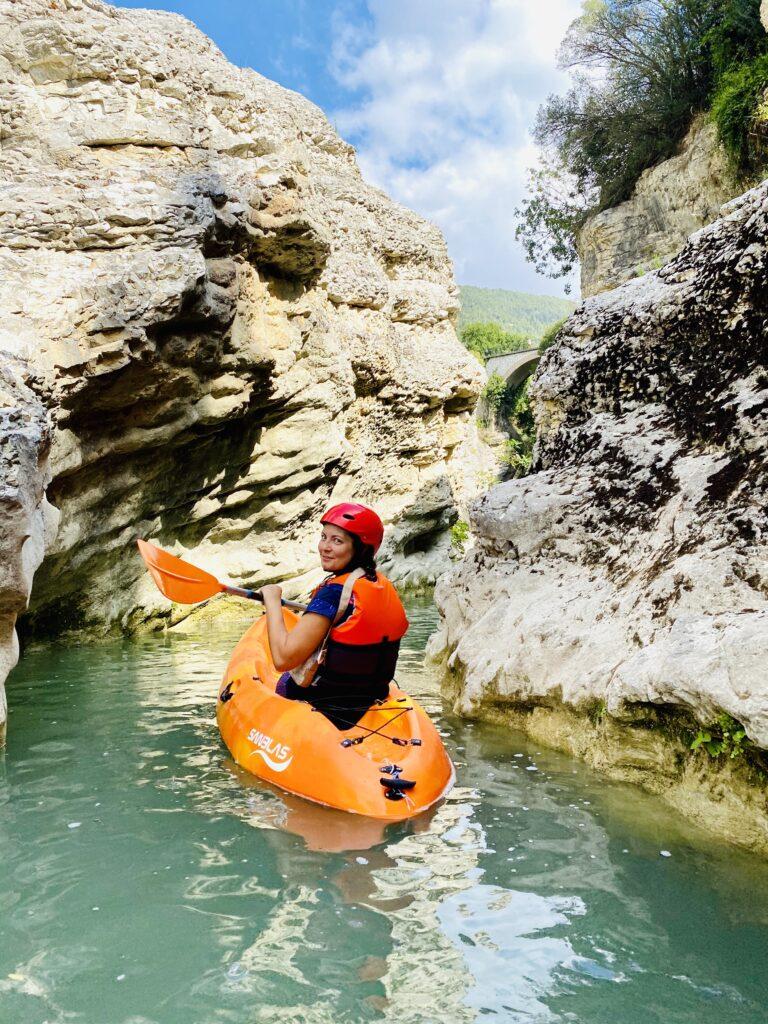 marmitte dei giganti in kayak - io in kayak
