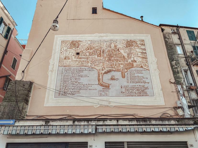 Quartiere San Siro Sanremo: murales sanremo nel 1700