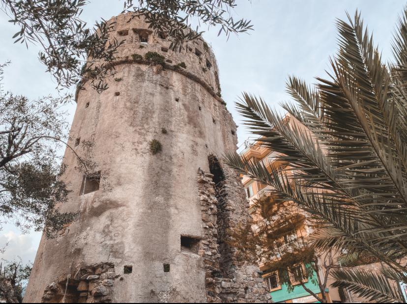 Quartiere San Siro Sanremo: torre della Ciapèla