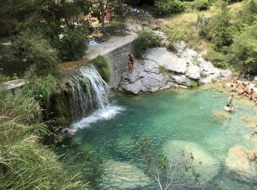laghetti di Rocchetta Nervina: cascata